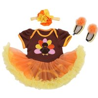 bebe lace dress - Cute Turkey Newborn Baby Girl Thanksgiving Outfit Baby Lace Romper Tutu Dress Body Bebe Overall Children Clothes Infant Kids Suit