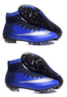 Wholesale 100 Original Mercurial Superfly CR7 FG AG Men s Magista Obra ACC Soccer Cleats Boots Hypervenom Kid s High Top Ankle Outdoor Football Shoes