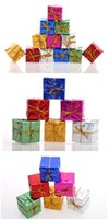 Wholesale Small Pendant Gift Boxes - Christmas Decoration Christmas Trees Pendant Small Square Box Christmas Gift Xmas Adornment Party Ornament FREE SHIPPING