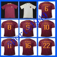 Wholesale rugby Away Home Rome Jerseys Shirt PJANIC DZEKO TOTTI DE ROSSI home away Associazione Sportiva Roma Jersey