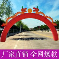 Wholesale Inflatable Arch full red color door festival celebration inflatable arches arch doors