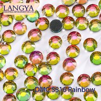 Wholesale Loose Bright Stones High Quality SS16 Rainbow Color Hotfix Rhinestones For Bags Design Accessories