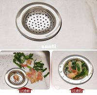basket strainer waste - New Arrive Kitchen Basin Drain Dopant Sink Waste Strainer Basket Leach Plug Stainless Steel