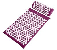 acupressure neck pain - Acupressure Mat Pillow Back Neck Pain Relief Muscle Relaxation Purple