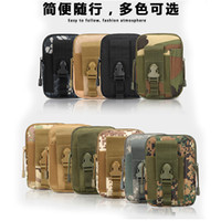 army tactical bag - IPhone7 For homtom Tactical Military Molle Hip Wallet Pocket Outdoor Sport Casual Waist Belt Phone Case Holster Army Camo Camouflage Bag C53