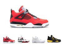 Cheap Cheap mens basketball shoes sneaker for sale Women Retros 4S outdoor sports shoes Retro 4 fire red white black