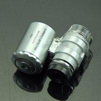 Wholesale Mini Jeweler x LED UV Light Pocket Microscope Jewelry Magnifier Loupe Glass