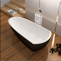 Wholesale 1800x800x500mm High End Solid Surface Stone CUPC Approval Bathtub Rectangular Freestanding Resin Acrylic Colored Rectangular Tub RS6592C