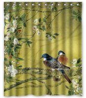 bathroom designs shower - Birds Animals Beautiful Scenery Customized Design Bath Animal Waterproof Shower Curtain x180cm Bathroom Curtains