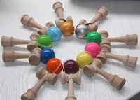 Wholesale cm Kendama Ball Japanese Traditional Wood Game Toy Education Gift