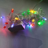 Décor 20LED solaire Fée Lanterne Guirlande lumineuse Jardin Xmas Party Outdoor Lamp