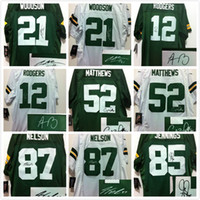 aaron rodgers signed jersey - Signed jersey Packers Clay Matthews Aaron Rodgers Charles Woodson Jordy Nelson Men football jerseys M XXXL