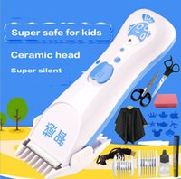 Wholesale 2016 New Baby hair Trimmer electric hairclipper rechargeable barber shave tool silent haircut scissors for years kids children Retail