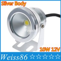 ac dc covers - LED Underwater Light LED W AC v v DC V IP68 Waterproof Wash Spot light Warm cooSilver Cover Body