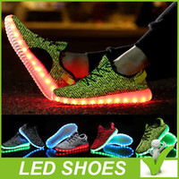 Wholesale Rechargeable LED shoe usb light shoes for men and women sports shoes colour glow sandals luminous glow shoes running shoes bost