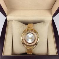 al por mayor relojes de señora de la mujer-2016 Nuevo reloj de las mujeres del estilo de la manera con la señora llena reloj de señora Steel Bracelet Cadena de lujo del reloj del cuarzo de alta calidad