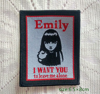 baby want - Emily The Strange I Want You To Leave Me Alone Sew On Patch Shirt Trousers Vest Coat Skirt Bag Kids Gift Baby Decoration