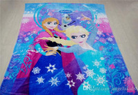 Wholesale Caetoon Blanket In Heat Selling A Series Of Ice And Snow Country Elsa Vivid And Beautiful Flannel Blanket Manufacturer Direct