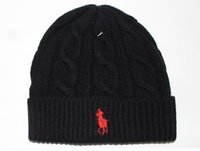 acrylic christmas hats - Fashion men winter beanie brand poloes men hat casual knitted sports cap ski gorro black grey blue red hight quality skull caps