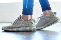 Wholesale Adidas Originals Yeezys Boost YZY Kanye Milan West Moonrock Trainers Shoes Yeezy Shoes New Men Women Sports shoes Running shoes