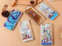 apple bus - UK Flag Bus Dreamcatcher Bling Liquid Quicksand Star Glitter Hard Plastic PC Case For IPhone SE S S Plus Plus Skin Cover