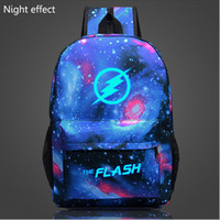 backpack animation - 2016 Flash Glow backpack Galaxy Luminous Printing Backpack Animation Backpack School Bags for Teenagers Mochila