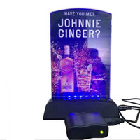bar table stands - LED Menu Stand LED Drink List Stand Holder Restaurant Hotel Bar KTV Night Club LED Table Menu Rechargeable USB Charger