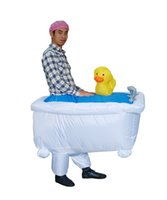 bathtub selling - Disfraces Adultos National Day Carnival Costume Inflatable Bathtub Costumes Halloween Cosplay Hot Sell Clothing