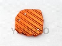 aluminum motorcycle stand - Orange Motorcycle Side Stand Extension Enlarger Pate Pad For KTM DUKE Aluminum