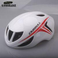 Wholesale Queshark Cycling Helmet Ultralight Aerodynamics Road Racing Bike Helmet Mountain Bike Integrated Molded Holes Bicycle Helmet