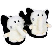 Wholesale Plush USB Foot Warmer Shoes Soft Electric Heating Slipper Cute Elephant Chopper Many colors