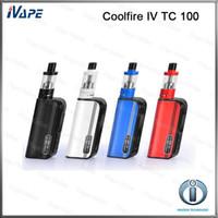 Cheap 100% Original Innokin Coolfire IV TC 100 Kit 3ml iSub V Tank With Cool Fire IV TC100 100W Mod Battery 3300mah Aethon Chipset