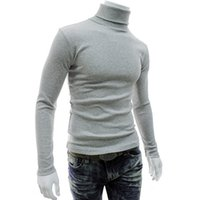 Wholesale Shelikeit New Arrival Solid Sweater Men Casual Knitted Sweaters Mens Turtleneck Long Sleeve Pullovers Blusa Masculina XXL