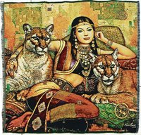 Wholesale hot sales gobelin tapestry beauty with beasts fabric picture Wall hanging