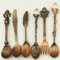 Wholesale vintage fork and spoon set spoons fork Exquisite coffee spoon dessert fork