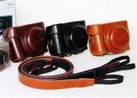 Wholesale High quality PU Leather Case for Sony Cyber Shot DSC HX50V HX50 HX60 LCJ HN Camera Hard Shoulder Bag with Strap