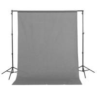 1.5x3m / 5x10ft 100% algodón Muslin Grey Fotografía Fotografía Fondo de fondo Gris