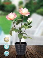 Wholesale Led light AA batteries operated rose flower for home decoration party supplies xmas decoration festival gift