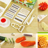 Wholesale New Cutter Grater With Guard Slicer Mandoline Kitchen Spiral Vegetable Stainless
