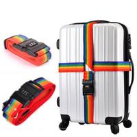 Wholesale Travel Luggage Password Suitcase Safe Nylon Packing Strap Belt Secure Lock Freeshipping