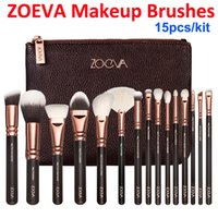 bags eye - New ZOEVA Rose Golden piece Luxurious Makeup Brushes Set Brush Clutch Bag Powder Foundation Brush face and eye brushes kit Blush Brush