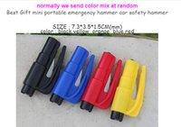 Wholesale 100pc in Car Window Glass Safety Emergency Hammer Seat Belt Cutter Tool Keychain