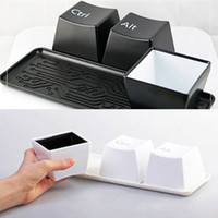 Wholesale Creative Simple Keyboard Ctrl ALT DEL Type Tea Coffee Mug Cup Container with Tray Coaster Set