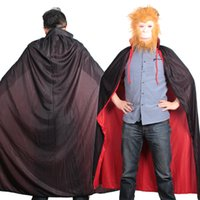 Wholesale Halloween party Christmas Day Magic cloak Wizard Death Vampire Costume Cosplay Black and Red Multi Cape FS0672