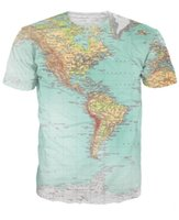 americas map - Map T Shirt World Urban Threads Hipsters Retro Globe Image Of The Americas Sexy T Shirt Short Sleeve Vibrant Tees Women Men tops