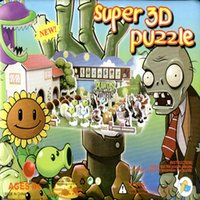 Wholesale Plants VS Zombies D DIY Handmade Toys Puzzle For Children s Gift Jigsaw Safe Non toxic Foam Paper Model