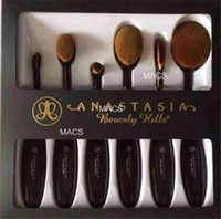 bb kit - 6 pieces Makeup Brushes Kit ABH M LOGO Oval Makeup Brush Cosmetic Foundation BB Cream Powder Blush Brand ABH