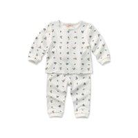 Wholesale Brand Cotton Unisex High Quality Soft Kids Baby Underwear Clothing Sets Girls Boys Long Johns under shirt legging Clothes Set M T