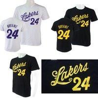 basketball tee shirt designs - HOT Men clothing Men s short sleeve T shirt cotton Fashion Style Casual T shirt Kobe Bryant Lakers Original Design Basketball Tees