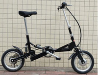 Wholesale quot Electric Folding Bicycle Bike Mini Foldable Bike Black
